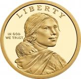Usa 1 Dollar Ureinwohner 2017 D Graf Waldschratde In Unserem