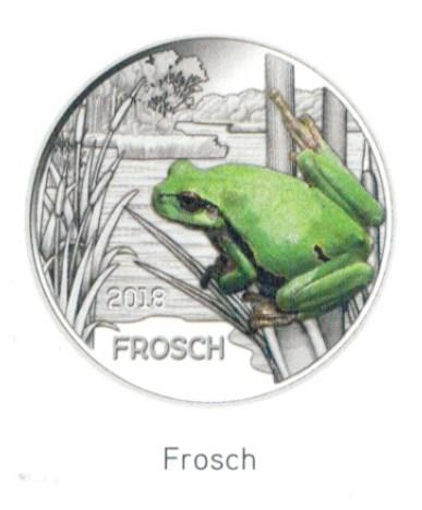 3 Euro österreich 2018 Frosch Hgh Graf Waldschratde In Unserem