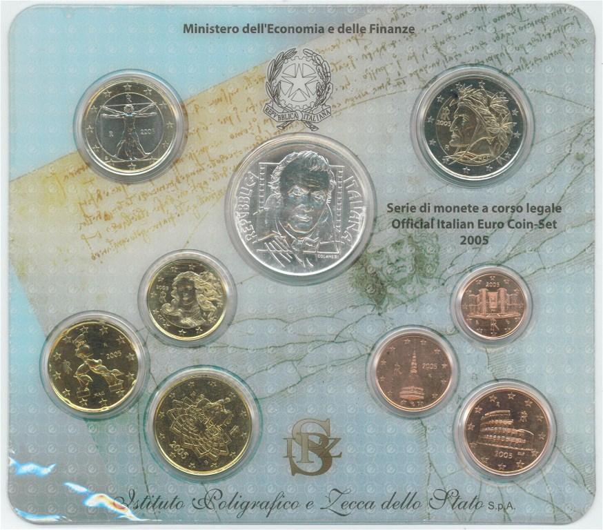 Italien 2005 Bu 1 Cent Bis 2 Euro5 Euro Graf Waldschratde In