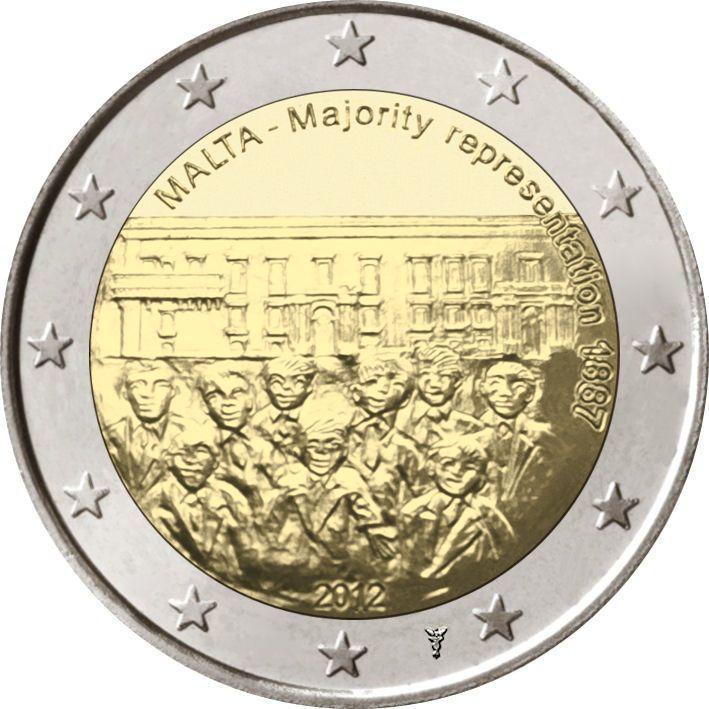2 Euro Malta 2012 Wahlrecht Mit Muenzzeichen