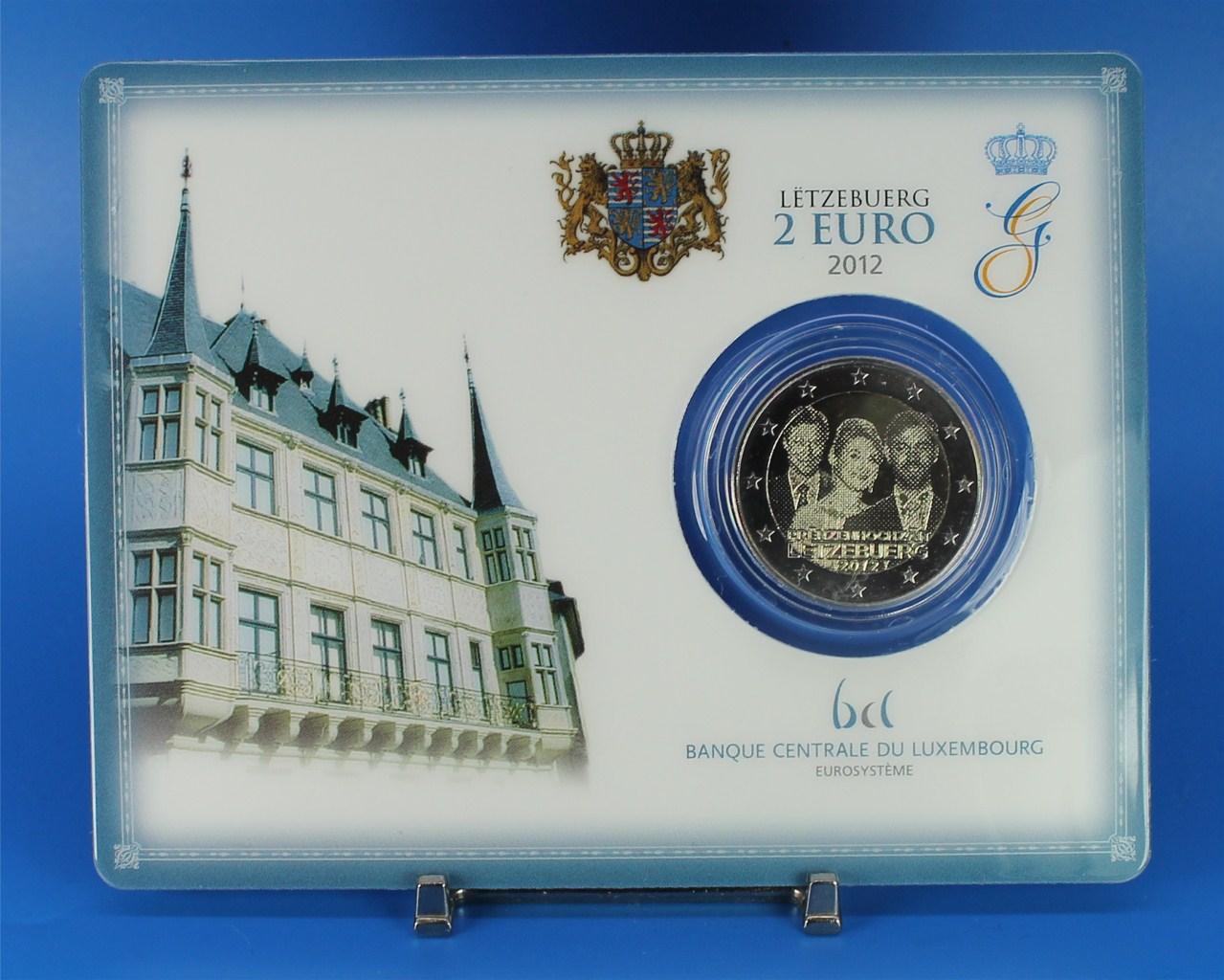 2 Euro Coin Card Luxemburg 2012 Hochzeit Graf Waldschratde In