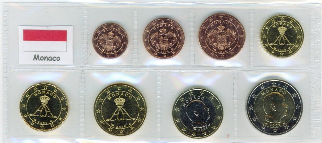 Kurs Muenzen Satz Monaco 2011 1 Cent Bis 2 Euro Graf Waldschrat