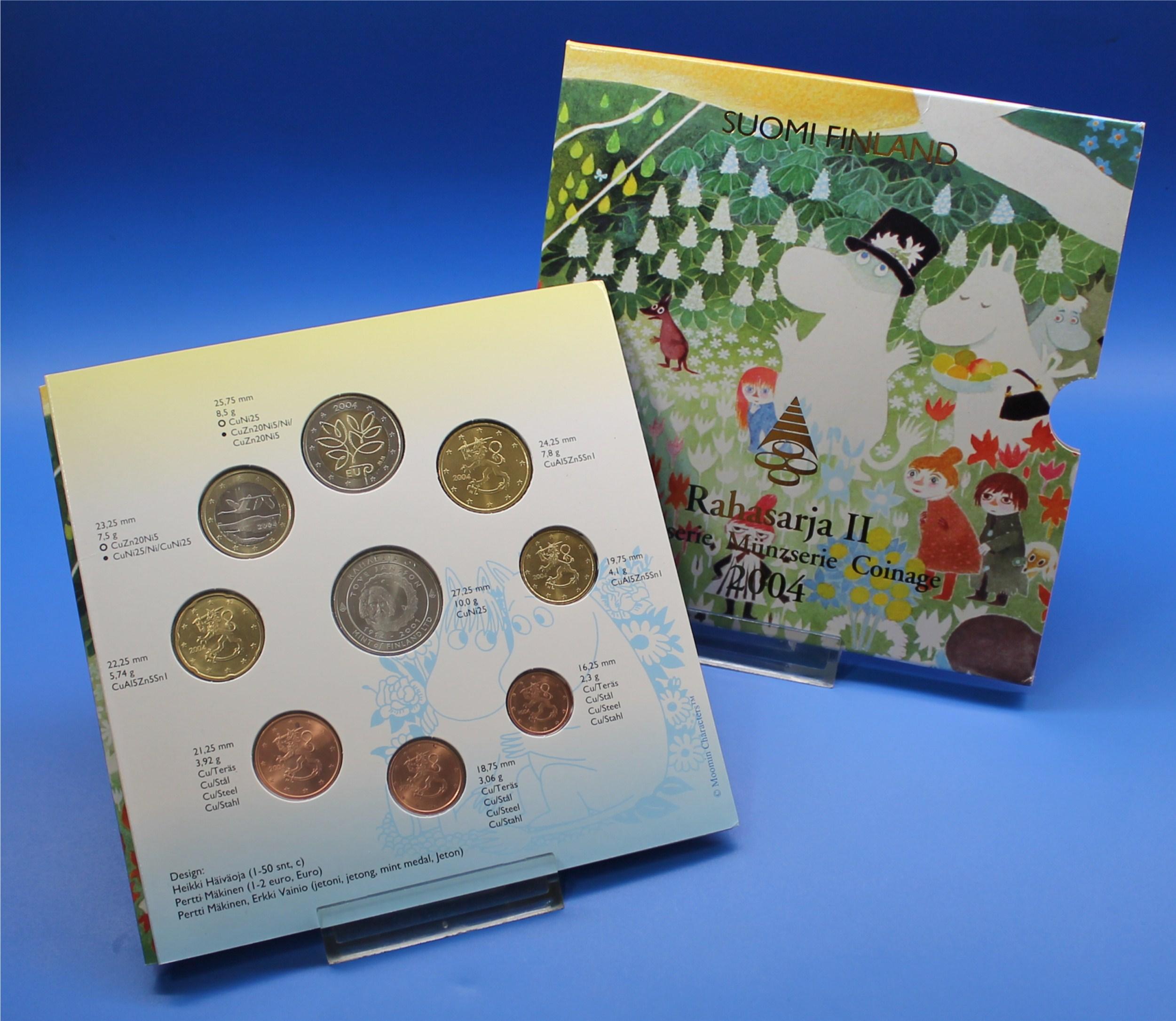 Finnland 2004 Bu Ii 1 Cent Bis 1 Euro2 Euro Cc Graf Waldschrat