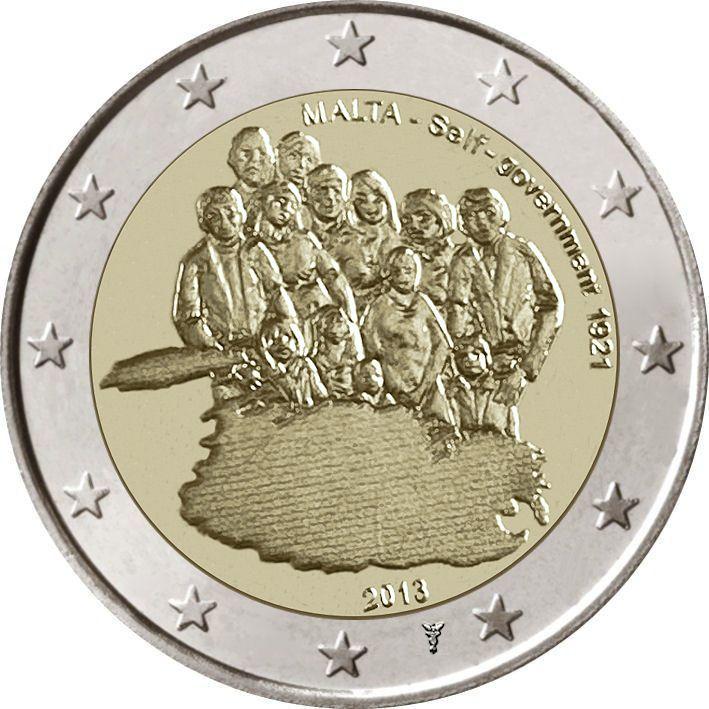 2 Euro Malta 2013 Selbstverwaltung Mit Münzzeichen