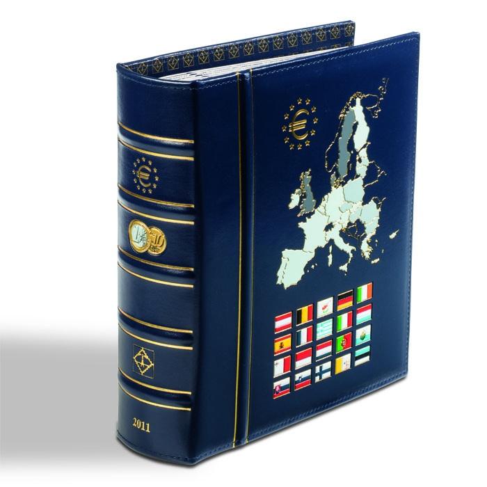Münzalbum Vista Euro Jahrgang 2011 Inkl Schutzkassette Blau