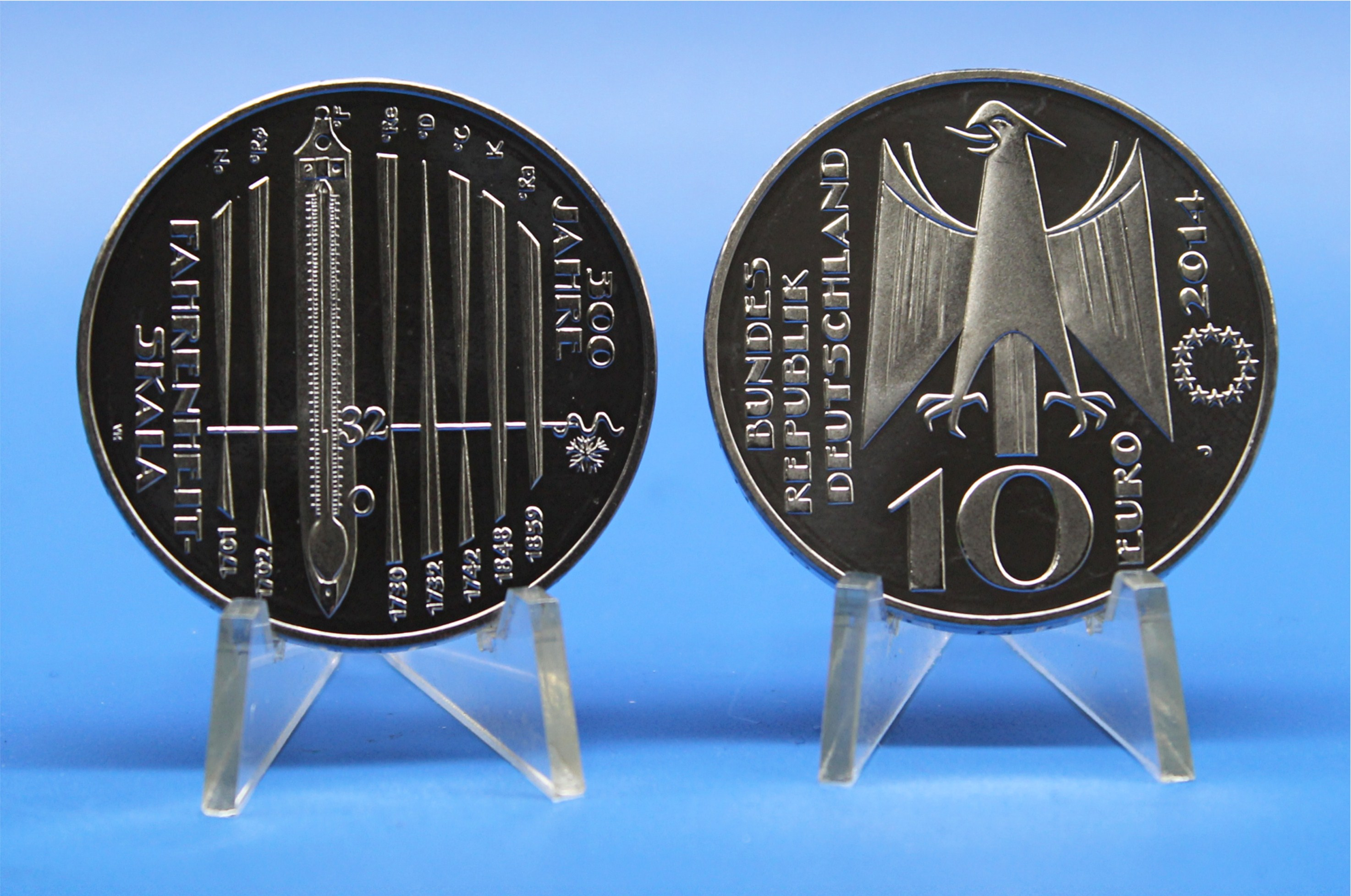 10 Euro Deutschland 2014 Fahrenheit Skala Graf Waldschratde In