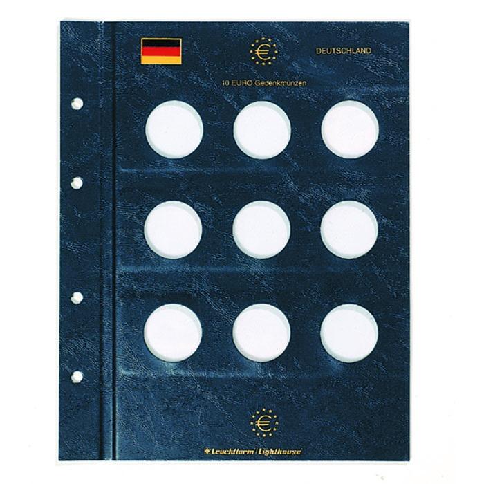 Münzblätter Vista Für 9 Deutsche 10 Euro Münzen Graf Waldschrat