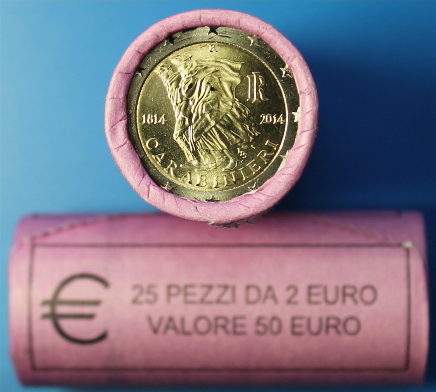 2 euro rolle italien 2014 carabinieri graf waldschrat. Black Bedroom Furniture Sets. Home Design Ideas