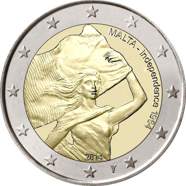 übersicht Aller 2 Euro Gedenkmünzen Aus Malta Knobbyknifese