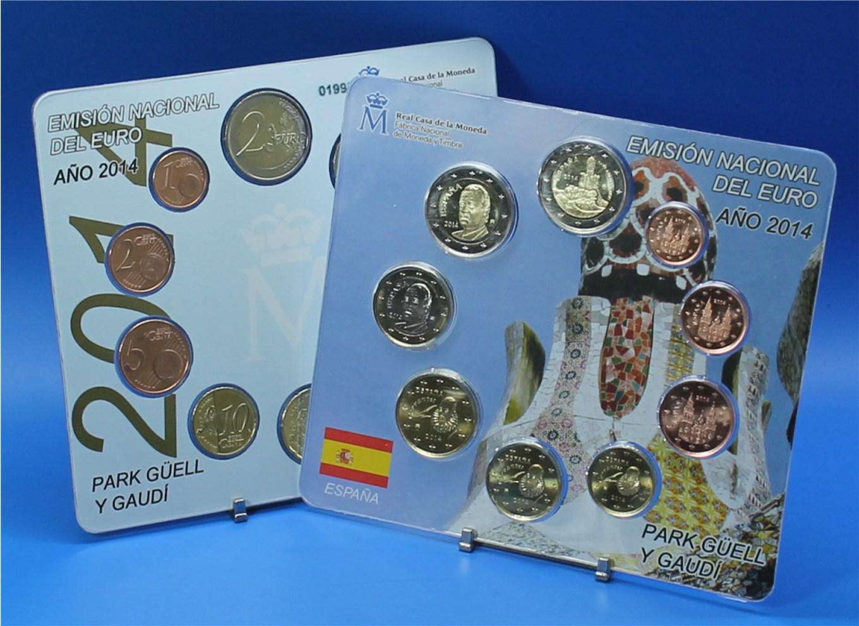 Spanien 2014 Bu 1 Cent Bis 2 Euro2 Euro Cc Graf Waldschratde