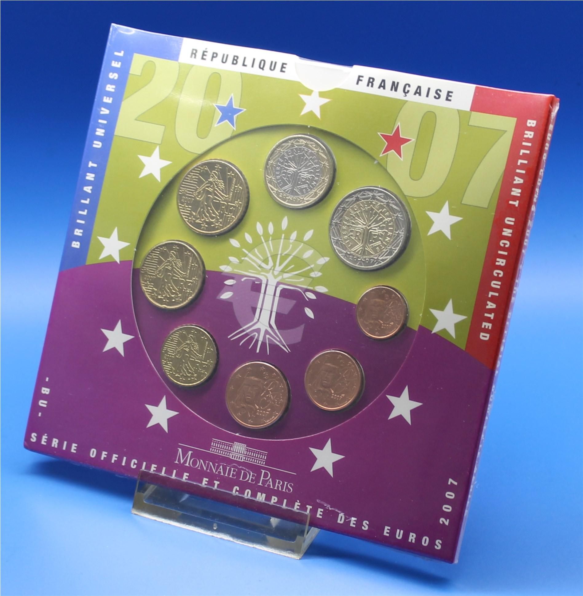 Frankreich 2007 Bu 1 Cent Bis 2 Euro Graf Waldschratde In