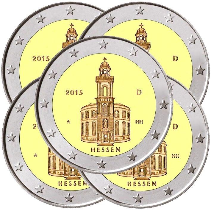 2 Euro Deutschland 2015 Adfgj Paulskirche Graf Waldschrat