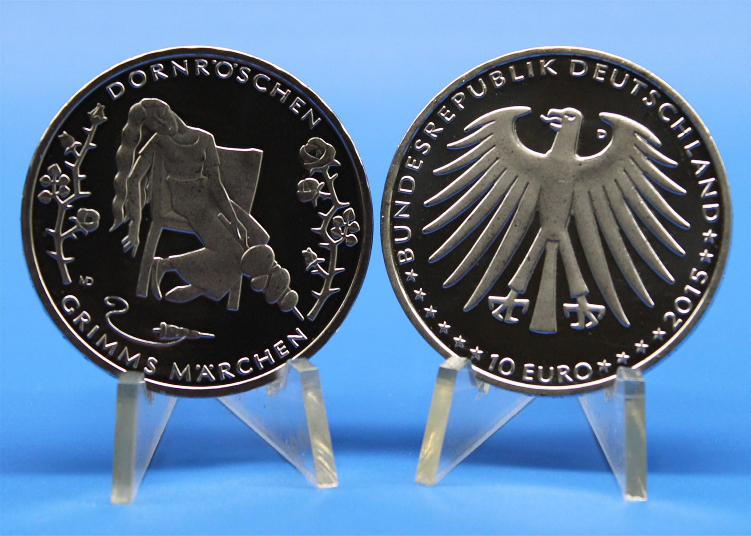 10 Euro Deutschland 2015 Dornröschen Graf Waldschratde In