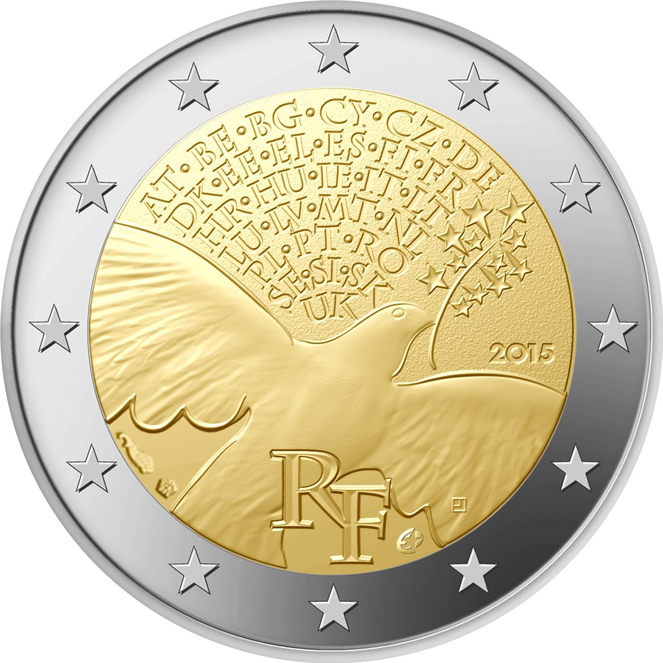 2 Euro Frankreich 2015 Frieden In Europa Graf Waldschratde In