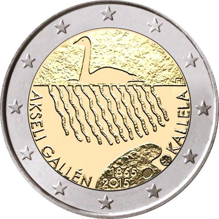 2 Euro Finnland 2015 Akseli Gallen Kallela Graf Waldschratde