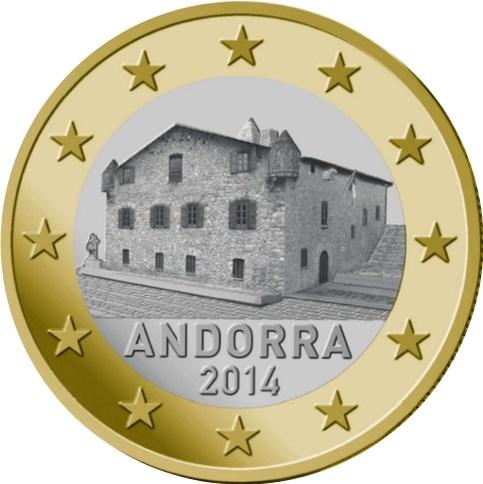 1 Euro Andorra 2016 Graf Waldschratde In Unserem Euro Münzen