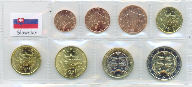 Kurs Münz Satz Slowakei 2018 1 Cent Bis 2 Euro Graf Waldschrat
