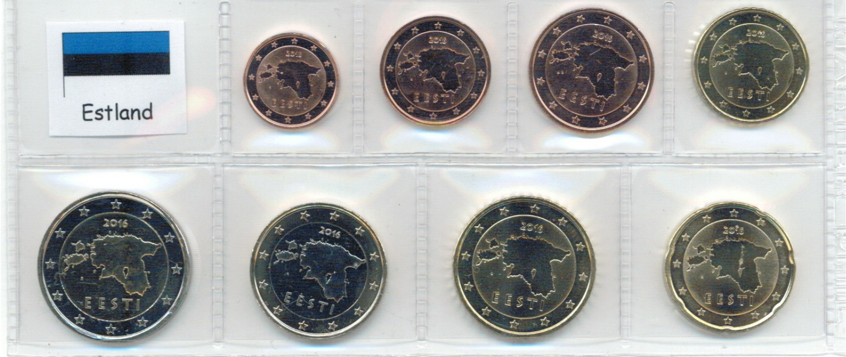 Coin Serie Estonia 2018 1 Cent To 2 Euro Graf Waldschratde