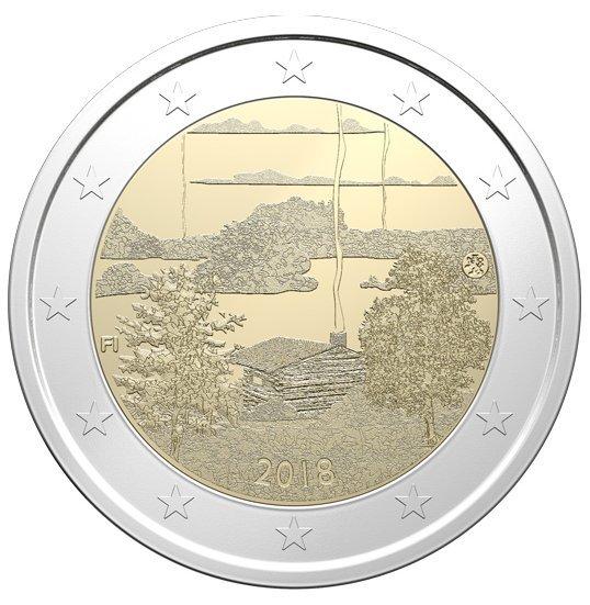 2 Euro Finnland 2018 Finnische Saunakultur Graf Waldschratde