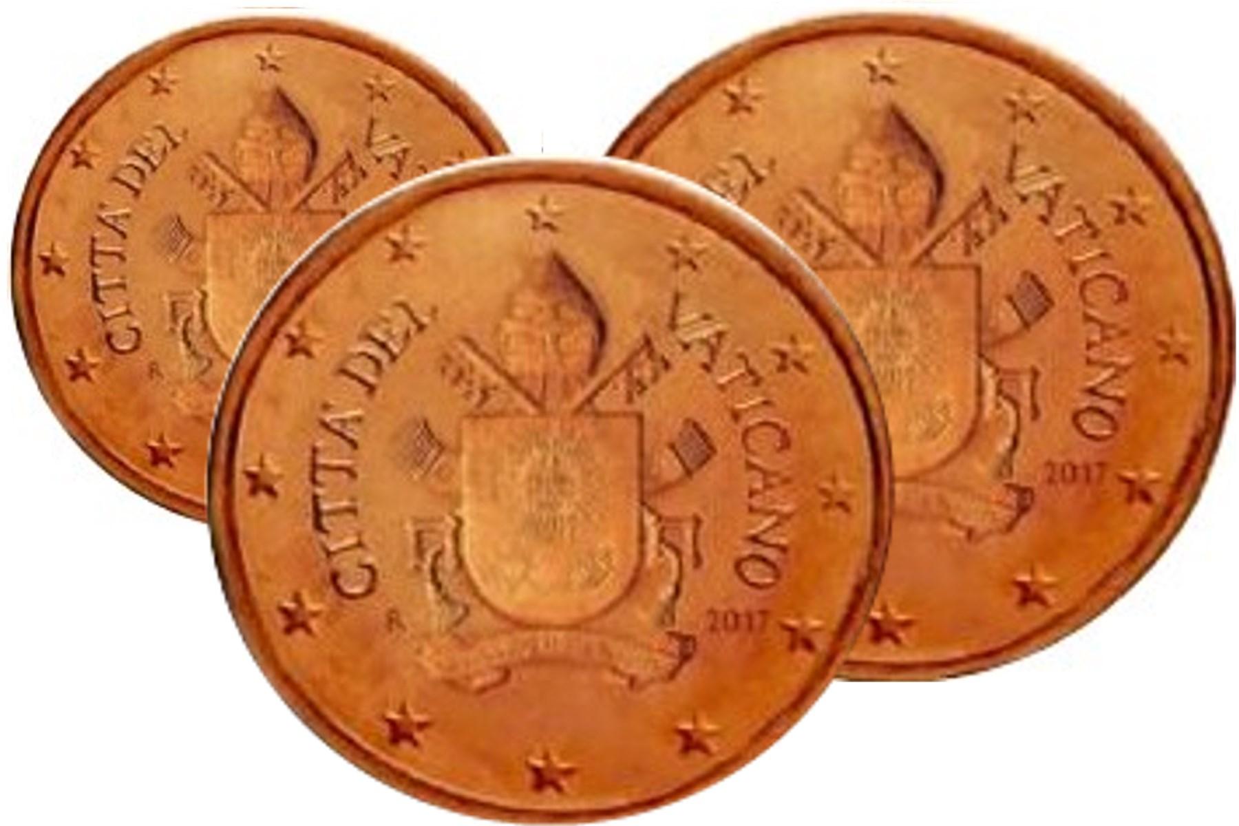 125 Cent Vatikan 2018 Graf Waldschratde In Unserem Euro Münzen