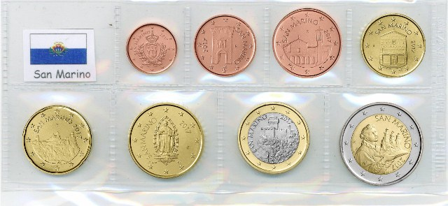 Kurs Münz Satz San Marino 2018 1 Cent Bis 2 Euro Graf Waldschrat