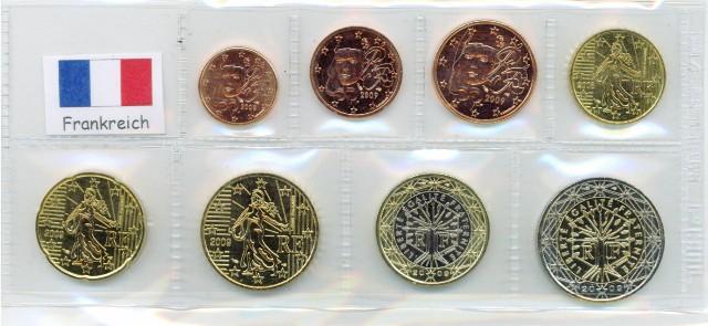 Kurs Münz Satz Frankreich 2007 1 Cent Bis 2 Euro Graf Waldschrat