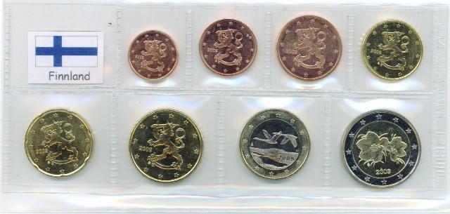 Kurs Münz Satz Finnland 1999 1 Cent Bis 2 Euro Graf Waldschrat