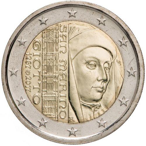 2 Euro San Marino 2017 750 Geburtstag Giotto In Münzkapsel Graf