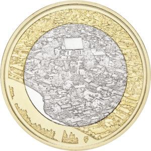 5 Euro Finnland 2018 Flusstal Porvoonjoki Graf Waldschratde In