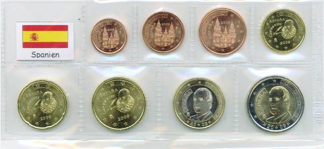 Kurs Münz Satz Spanien 1999 1 Cent Bis 2 Euro Graf Waldschratde