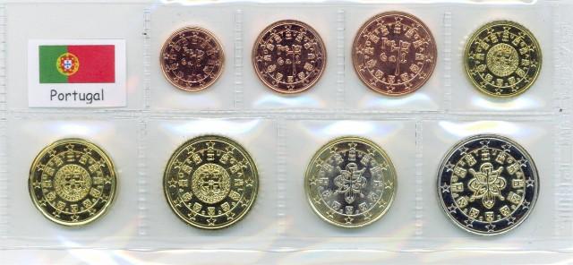 Kurs Münz Satz Portugal 2007 1 Cent Bis 2 Euro Graf Waldschrat