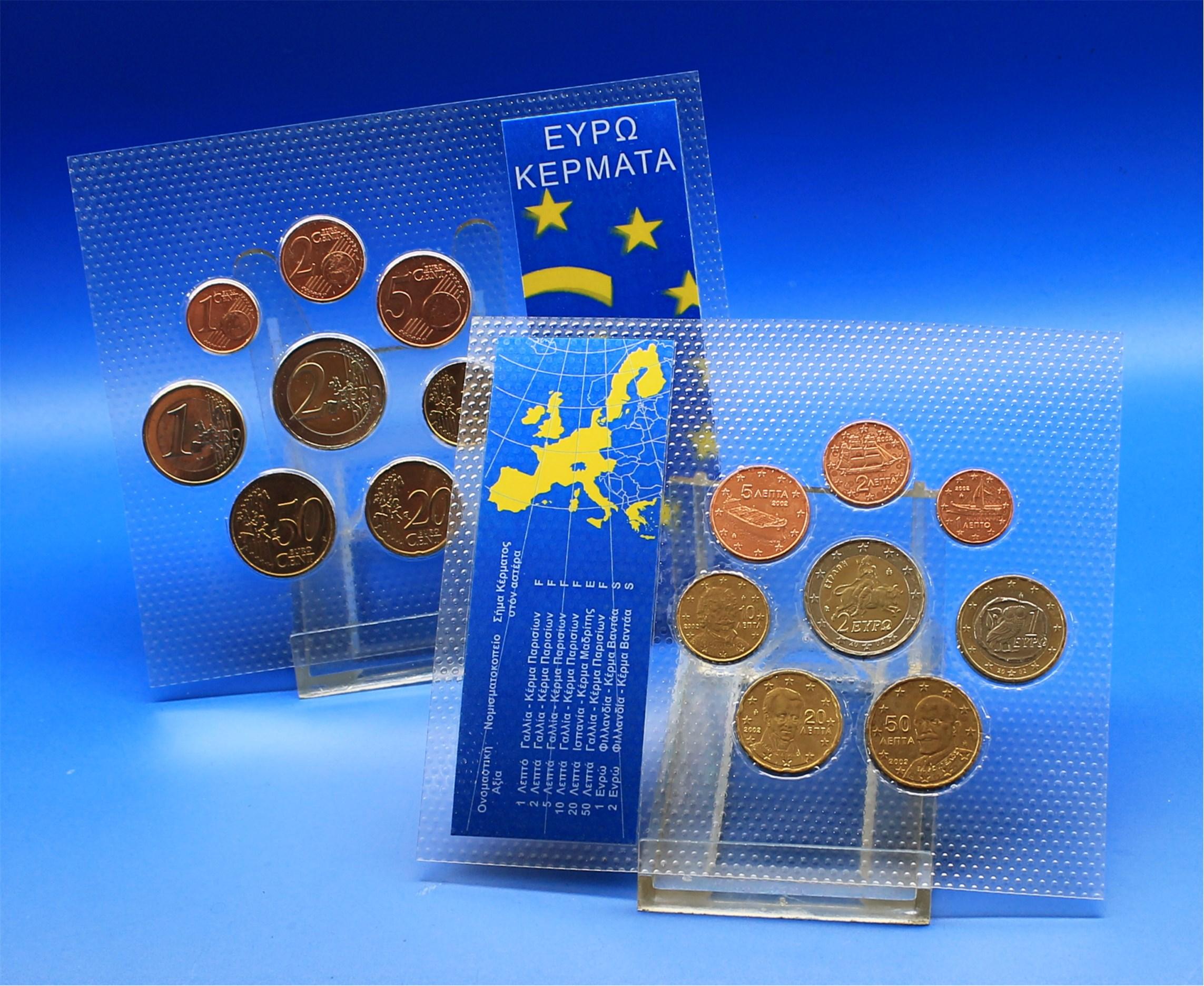 Griechenland 2002 Bu Fremdgeprägt 1 Cent Bis 2 Euro Graf