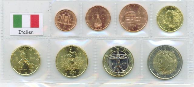 Kurs Münz Satz Italien 2002 1 Cent Bis 2 Euro Graf Waldschratde