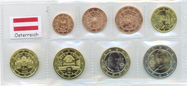 Kurs Münz Satz österreich 2002 1 Cent Bis 2 Euro Graf Waldschrat
