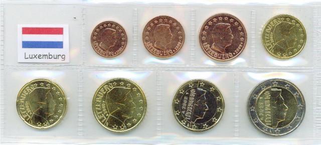 Kurs Münz Satz Luxemburg 2008 1 Cent Bis 2 Euro Graf Waldschrat