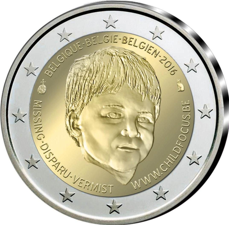 2 Euro Belgien 2016 Child Focus Graf Waldschratde In Unserem