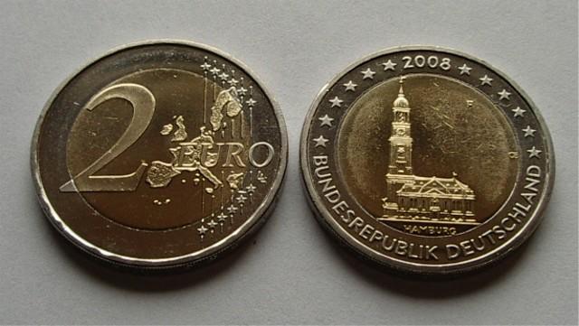 2 Euro Deutschland 2008 Cc F Alte Landkarte Graf Waldschratde