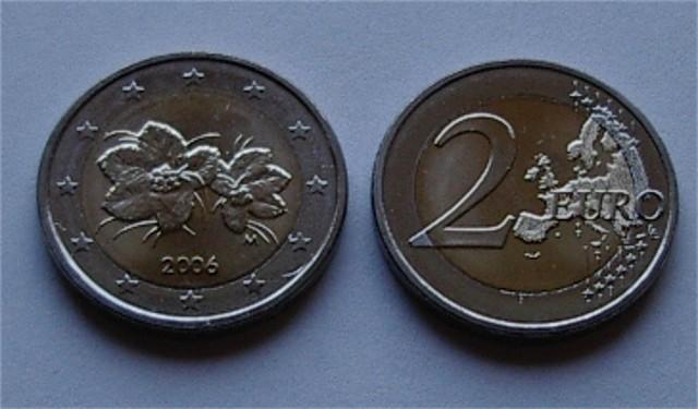 2 Euro Finnland 2006 Mit Neuer Landkarte Graf Waldschratde In