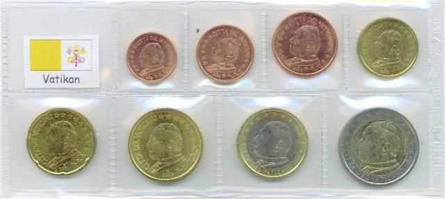 Kurs Münz Satz Vatikan 2002 1 Cent Bis 2 Euro Graf Waldschratde