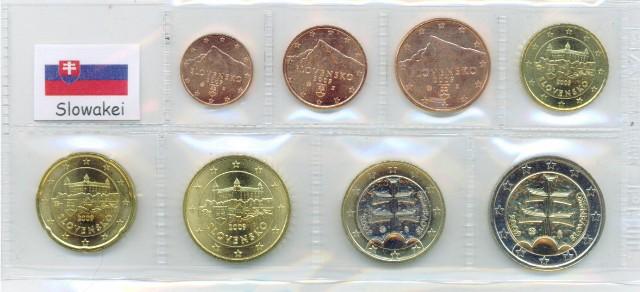 Kurs Münz Satz Slowakei 2009 1 Cent Bis 2 Euro Graf Waldschrat