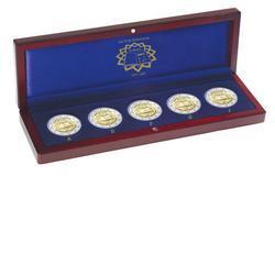 Münzetui Für 5x 2 Euro Münzen In Kapseln Deutschland Römischen