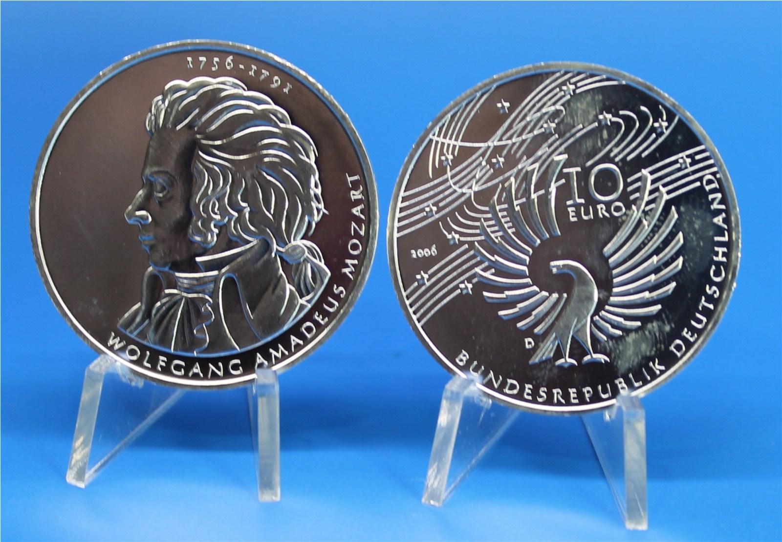 10 Euro Deutschland 2006 Mozart Graf Waldschratde In Unserem