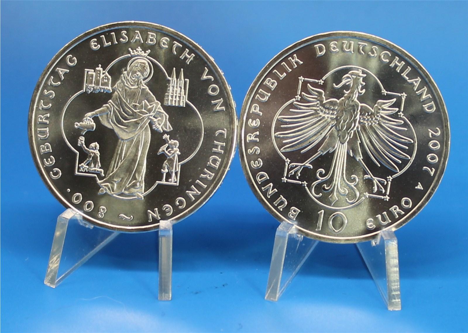 10 Euro Deutschland 2007 Thüringen Graf Waldschratde In