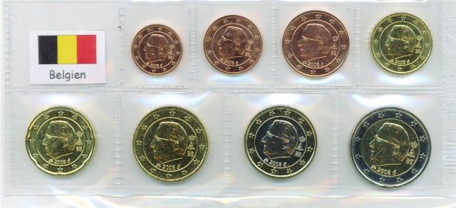 Kurs Münz Satz Belgien 2008 1 Cent Bis 2 Euro Graf Waldschratde