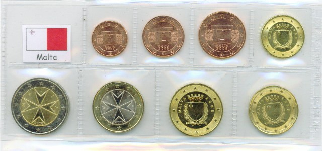 Series Malta 2008 1 Cent 2 Euro Graf Waldschratde