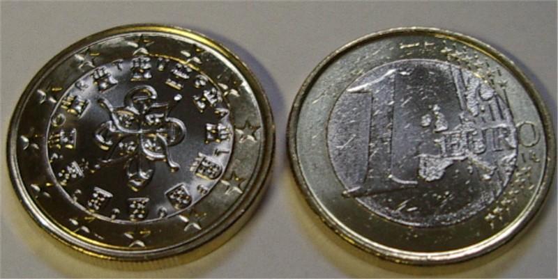 1 Euro Portugal 2008 Alte Karte Graf Waldschratde In Unserem