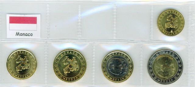Kurs Muenzen Satz Monaco 2002 10 Cent Bis 2 Euro Graf Waldschrat
