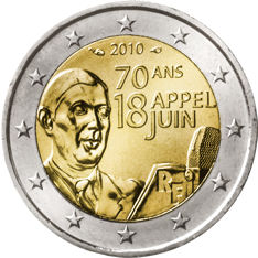 2 Euro Frankreich 2010 Gaulle Graf Waldschratde In Unserem