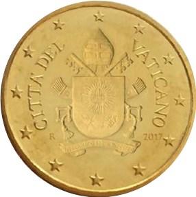 50 Cent Vatikan 2017 Graf Waldschratde In Unserem Euro Münzen
