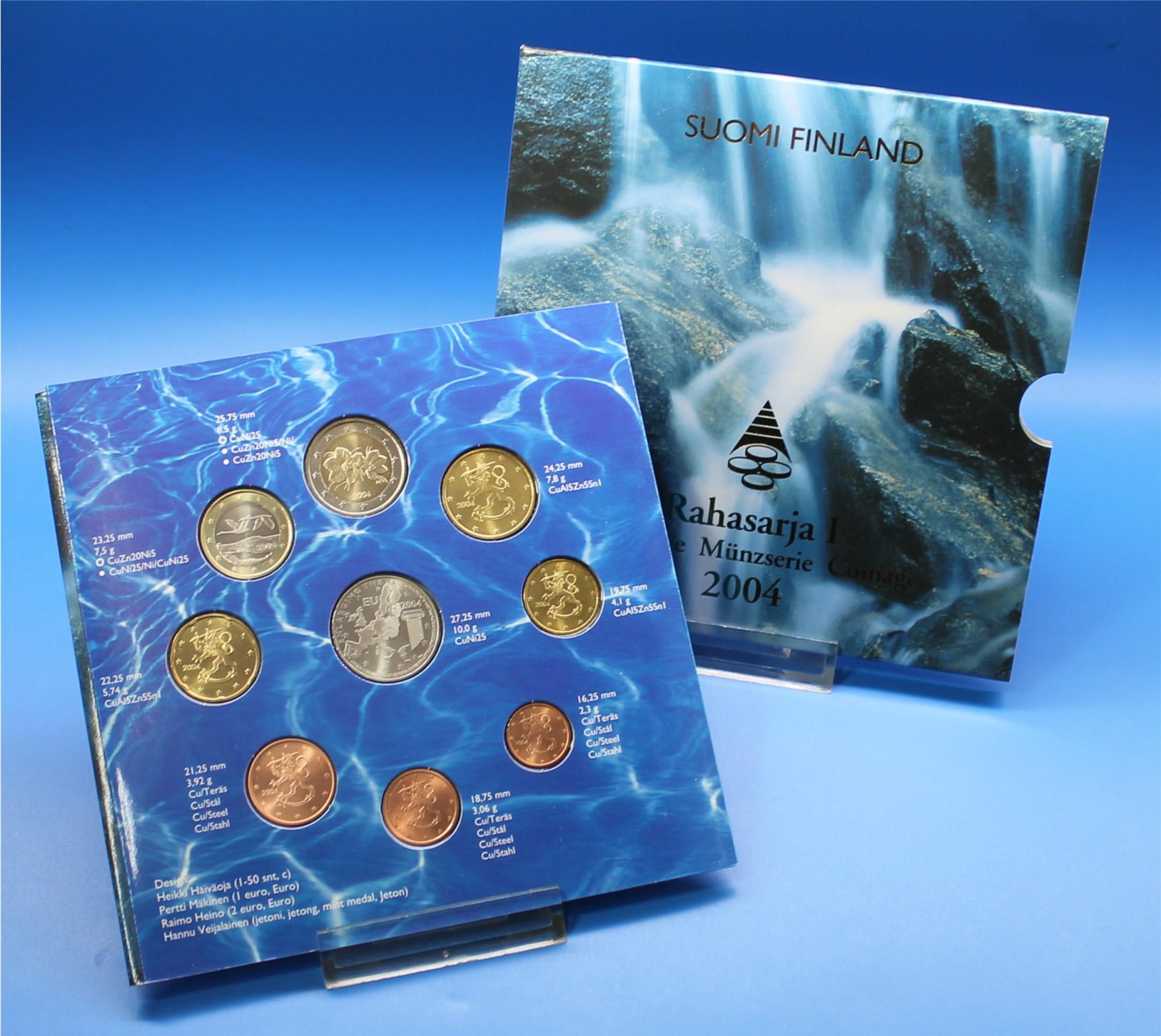 Finnland 2004 Bu 1 Cent Bis 2 Euro Graf Waldschratde In